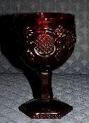 Avon Cape Cod Ruby Red Wine Glasses