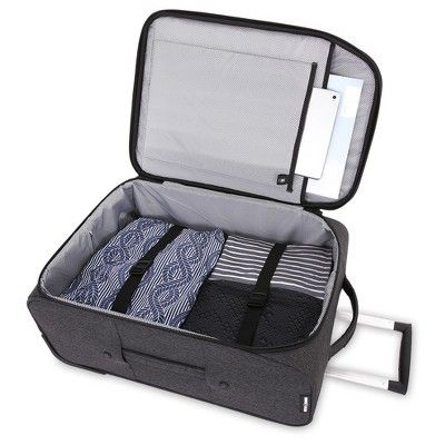 08bf51163 SwissGear Getaway Collection 20 Carry On Rolling Weekender Luggage, Gray