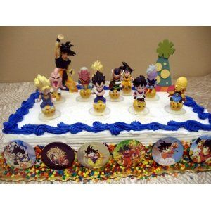 Exclusive Unique Dragon Ball Z 18 Piece Birthday Cake Topper