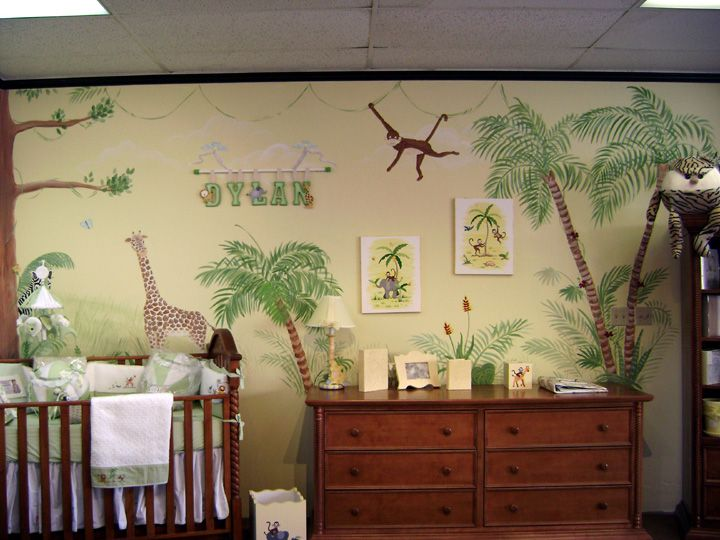 Jungle, safari animals nursery kids room, Go wild with items found ...