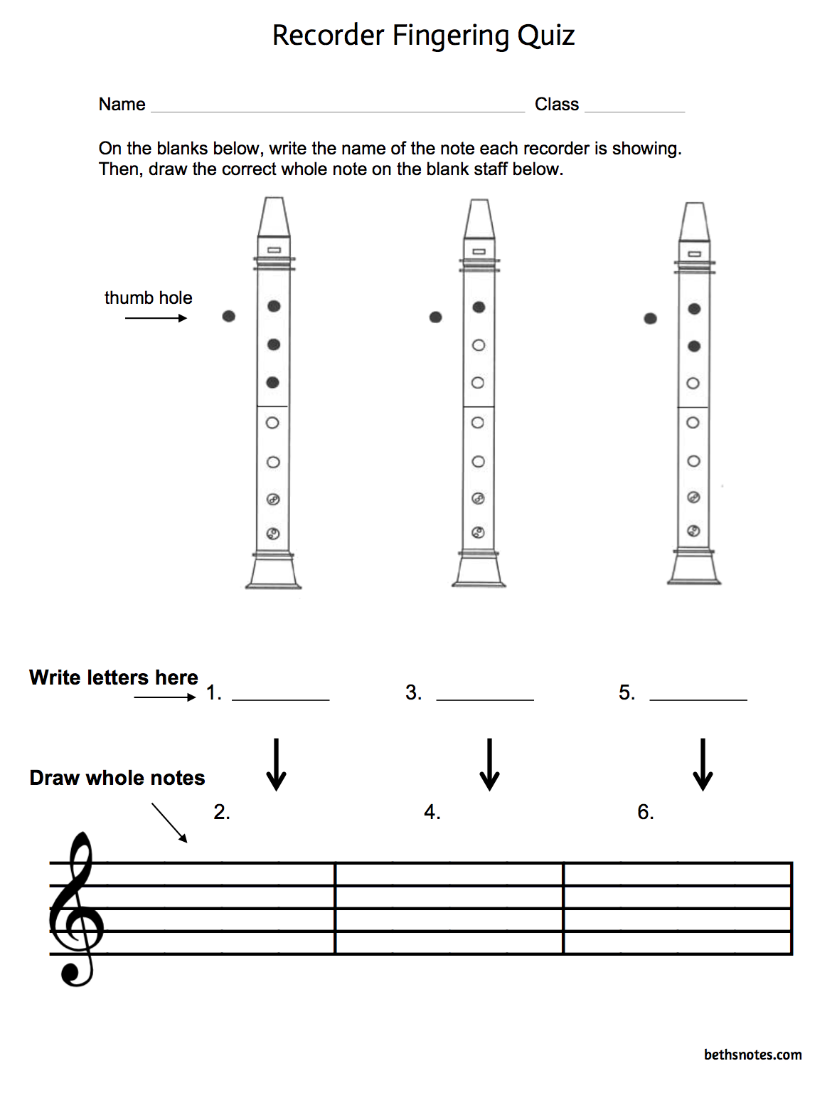 Beth S Music Notes Recorders Quizzes Rubrics And Folk Tunes