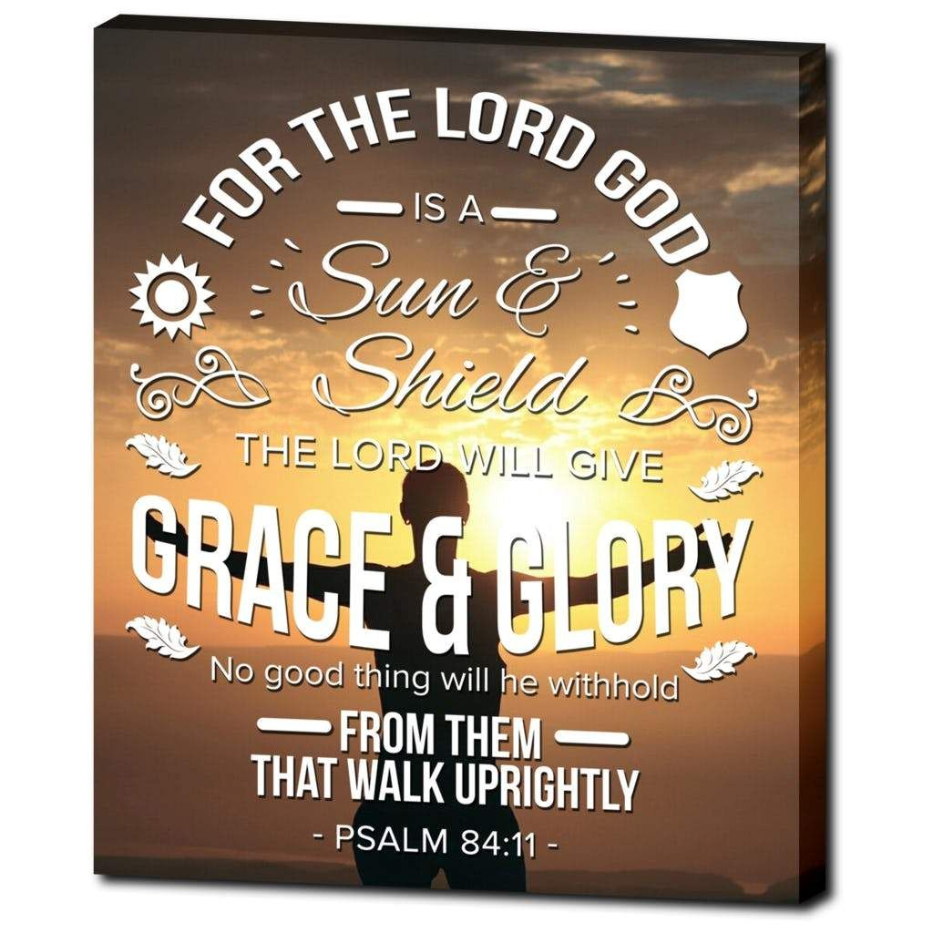 Psalm 84:11 Bible Verse Printed On Ready To Hang Stretched Canvas ...