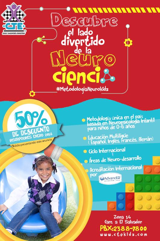 Descubre el lado divertido de la Neuro ciencia y conoce el método que ha revolucionado la educación por más de 30 años! 50% off admisiones enero 2016 #MétodoNeurokidz