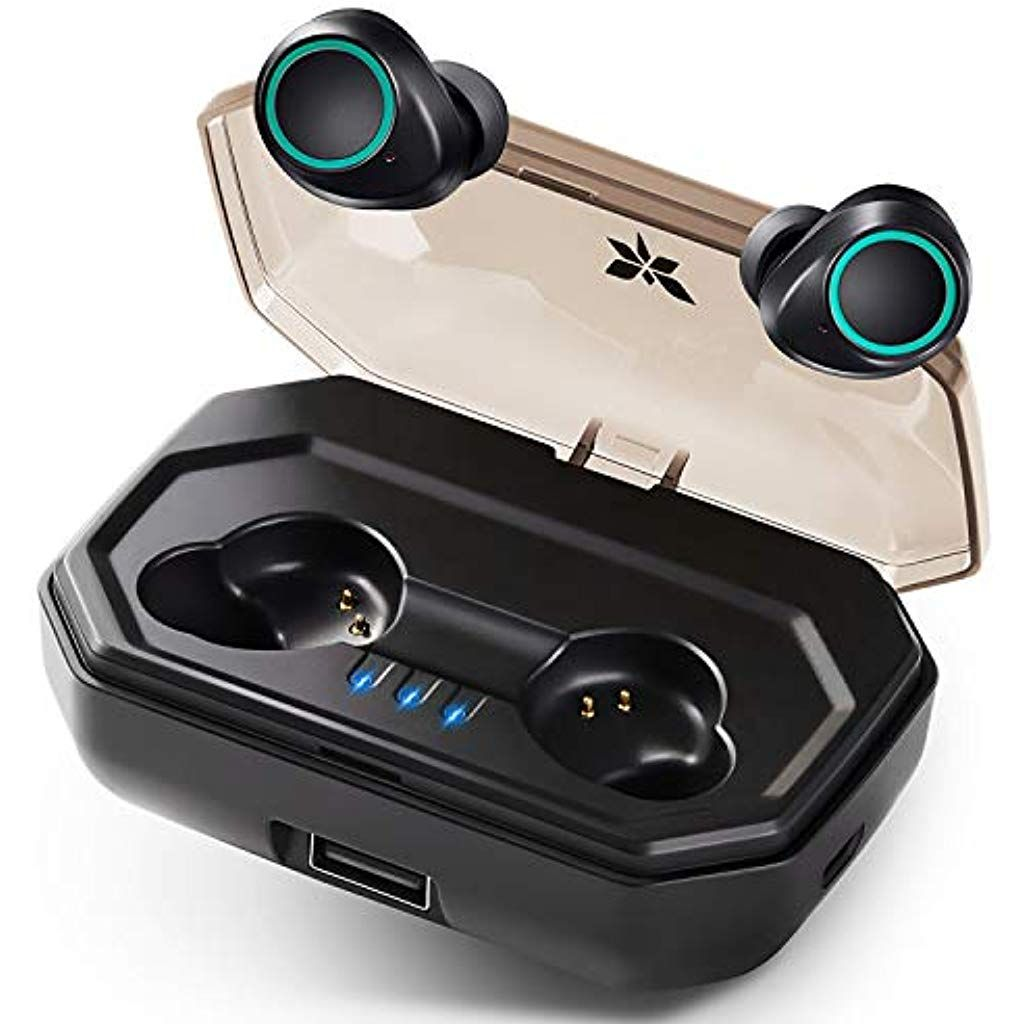 Bluetooth Kopfhorer Kabellos Axloie Ohrhorer Bluetooth 5 0 In Ear 130h Spielzeit Automatische Kopplung Ip65 Wasserdicht Headset Wirel Bluetooth Mikrofon Handys