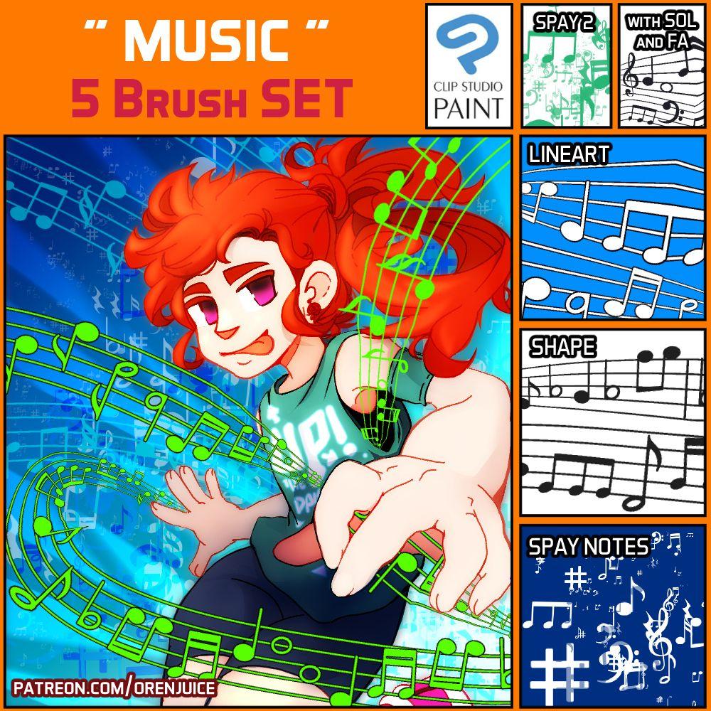 Brush Set Music Clip Studio Paint Manga Studio Brush Set