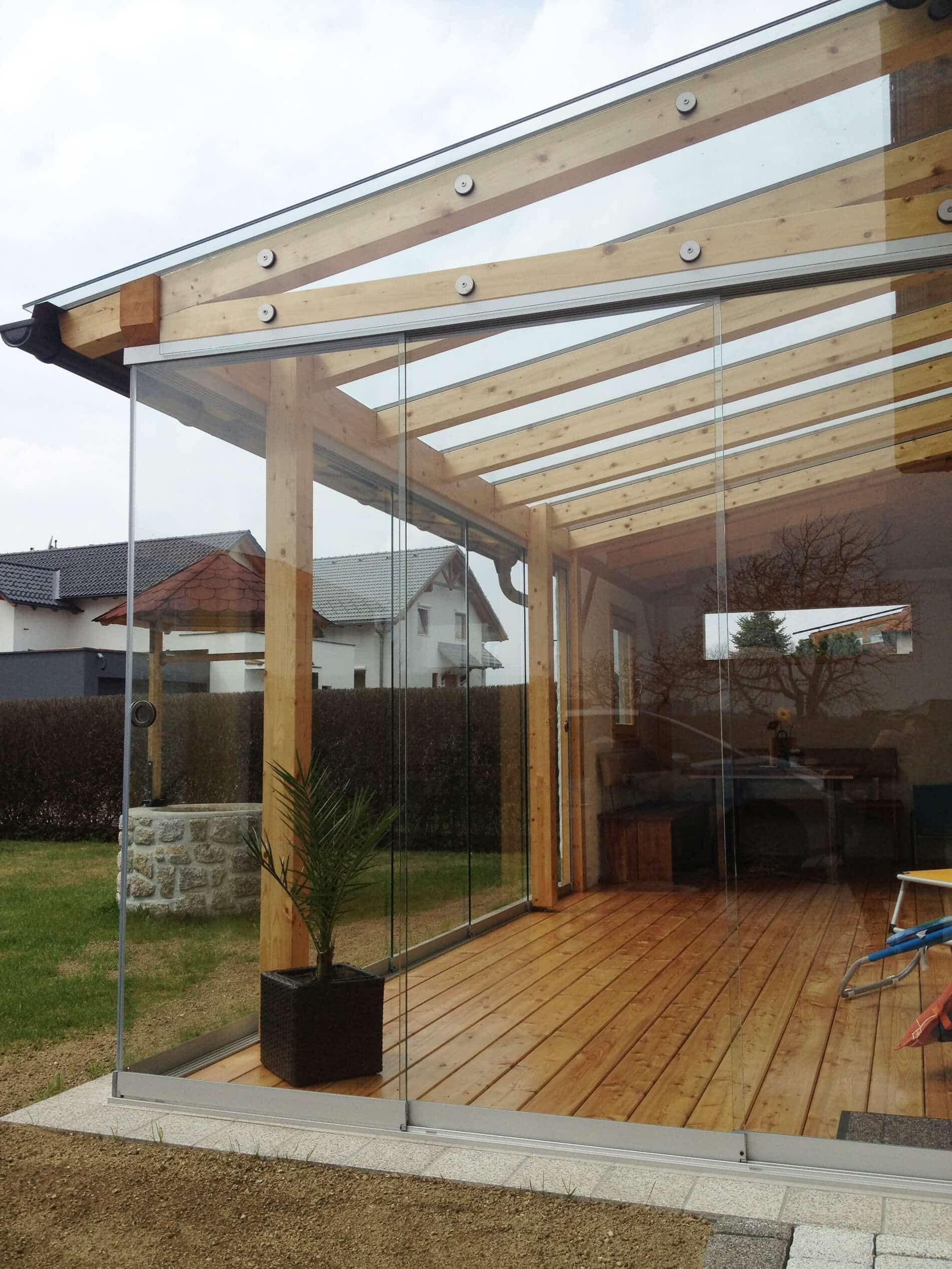 Glasschiebewand für Wintergarten   Sorgen für rahmenloses ...