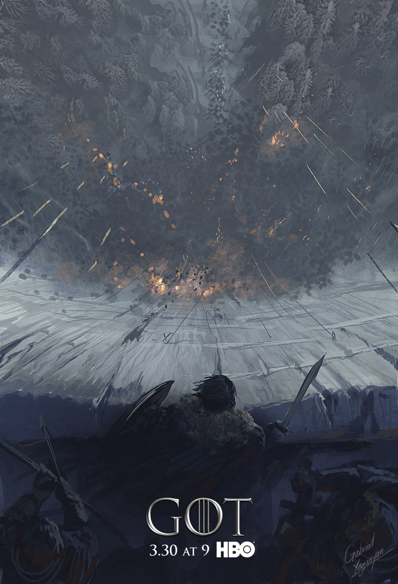 The Wall Fantastic Concept Poster Art For Hbo S Game Of Thrones