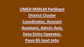 UMED MSRLM Buldhana District Cluster Coordinator, Account