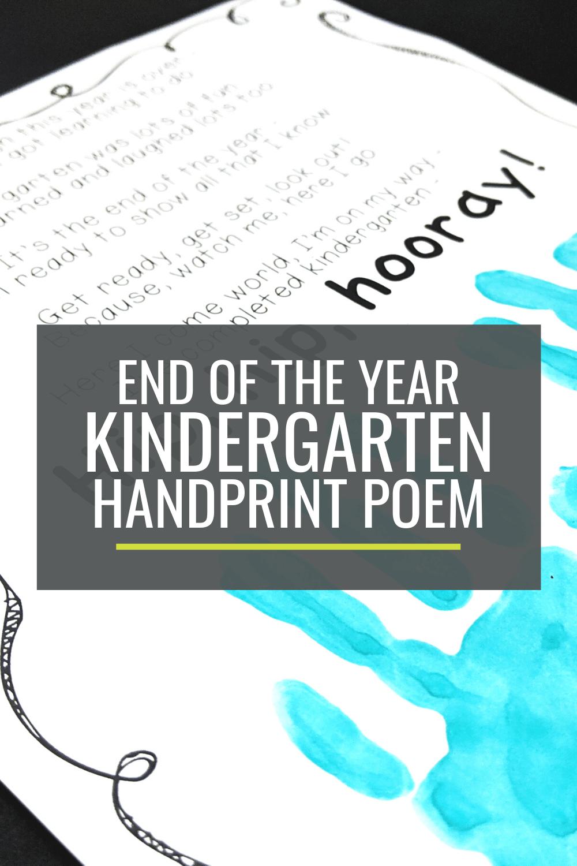 Free End Of The Year Kindergarten Handprint Poem In 2021 Memory Book School Teacher Poems Handprint Poem [ 1500 x 1000 Pixel ]
