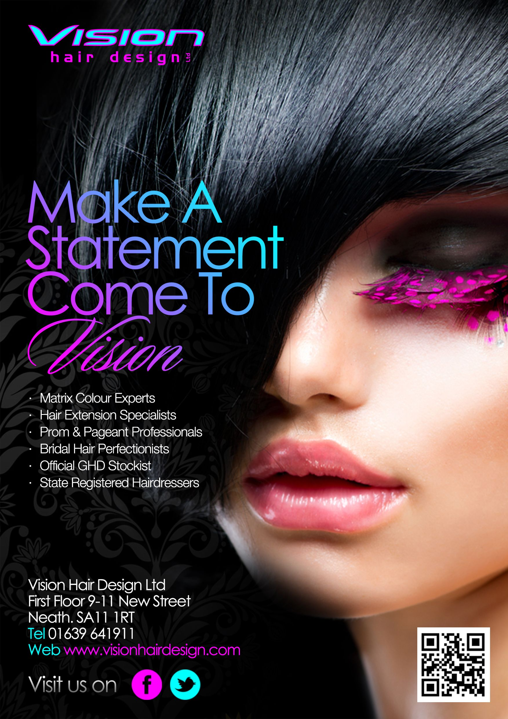 Vision hair design ltd flyer 2013 hair and beauty techniques pinterest marketing for Salon flyers ideas