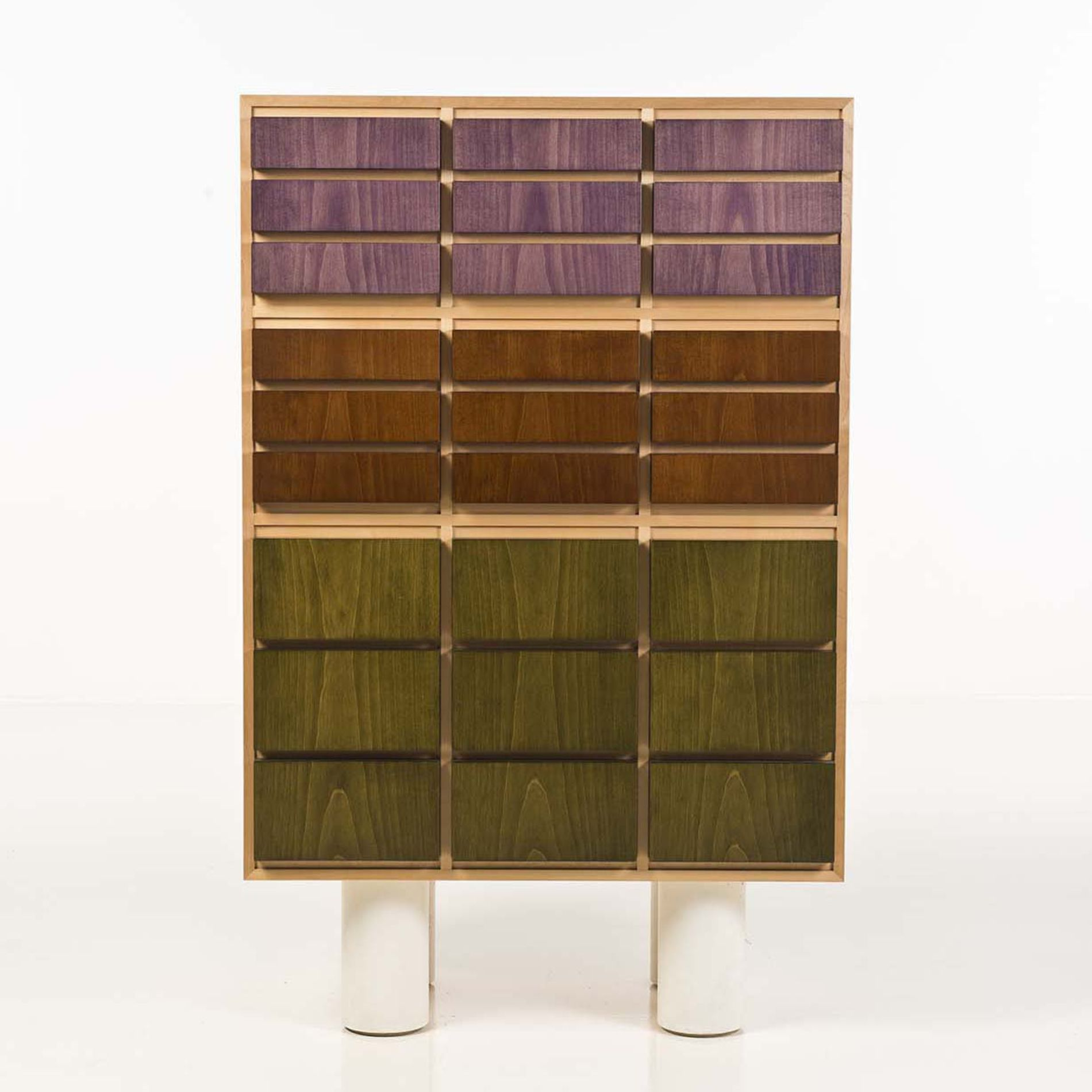 Ettore Sottsass 2 Prototype Stained Maple Cabinet For Pierluigi  # Meuble Tv Munari Milano