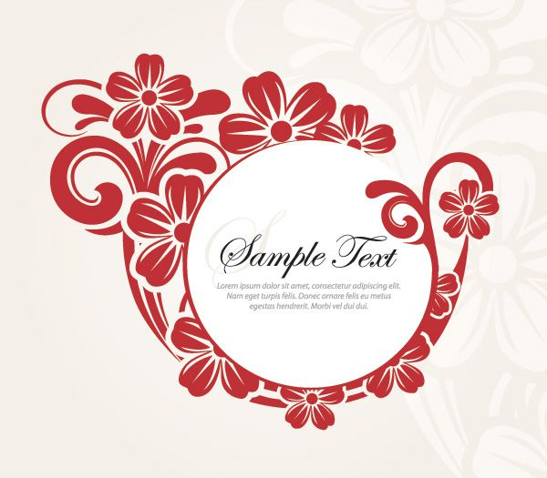 Stylish Flower Design - fresh invitation banner vector
