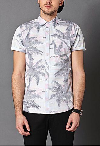 Tropic Print Pocket Shirt 21 Men 2000063319 Pocket Shirt