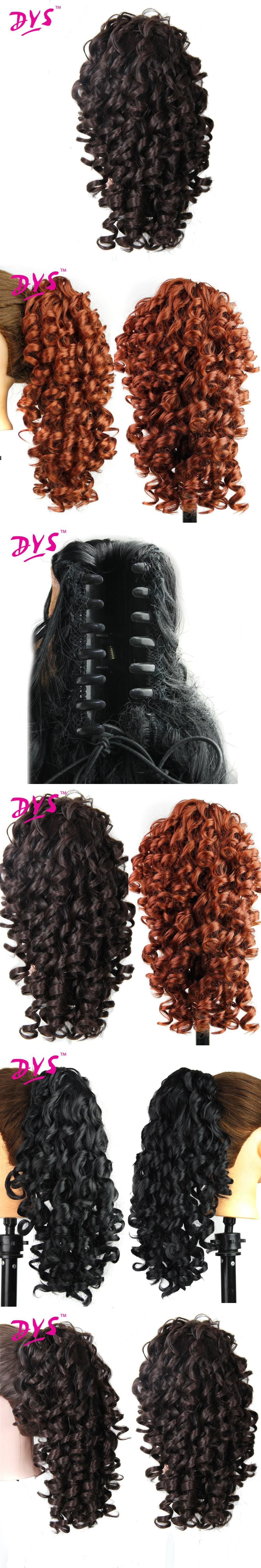 Deyngs 20inch Kinky Curly Claw In Ponytail Hair Extensions Fake Hair