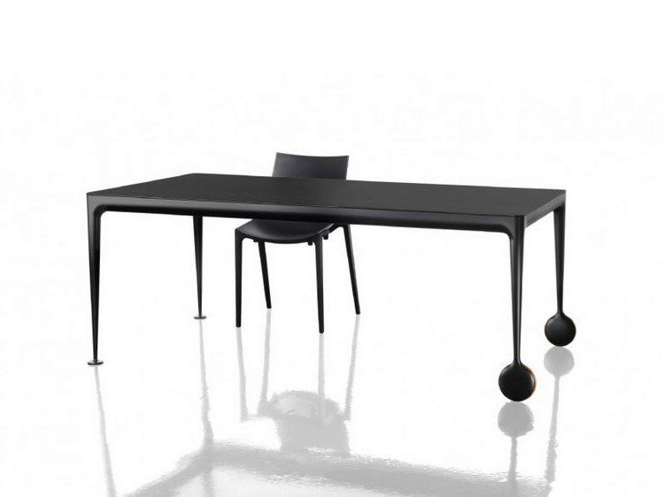Design Extending Aluminium Dining Table With Casters Big Will By