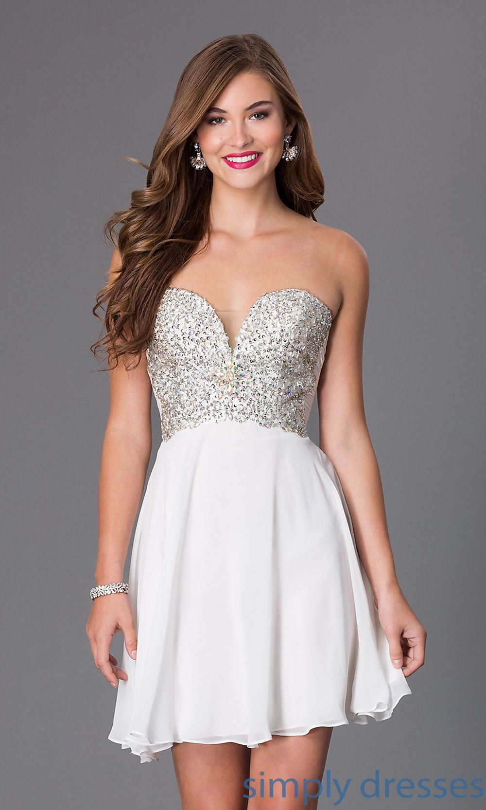 Short strapless sweetheart dress by swing ssd dressesoutfits