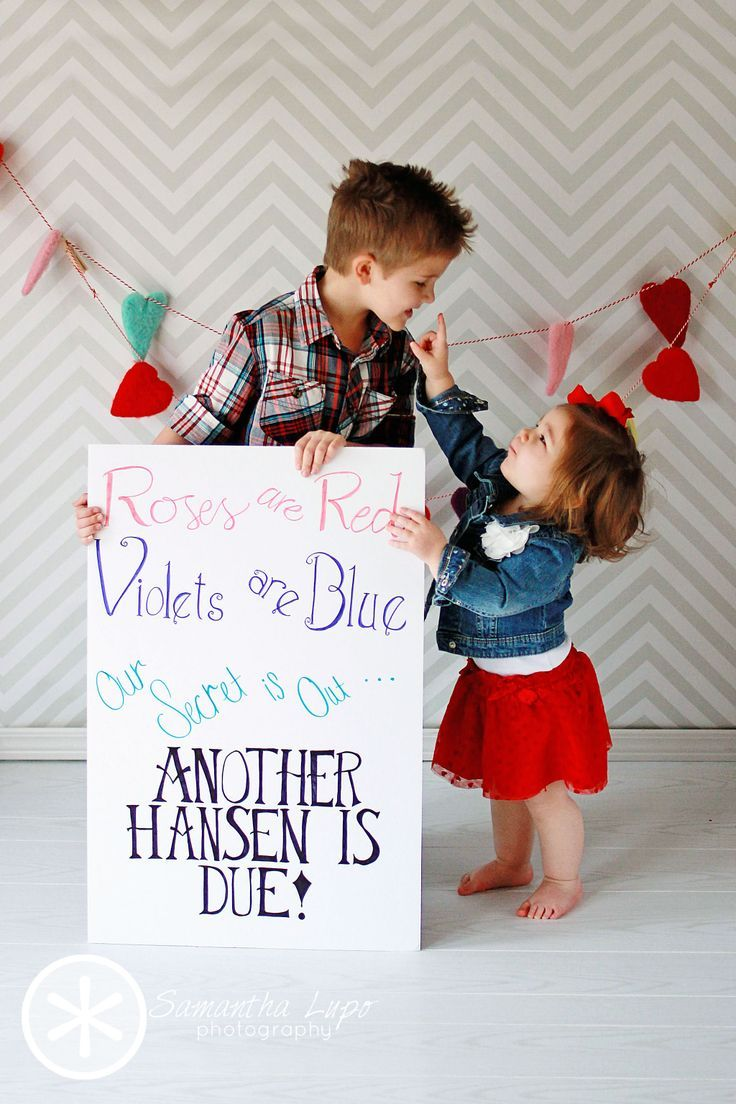 12 Beauty Sibling Valentine Picture Ideas Top Creative – Sibling Announcing New Baby