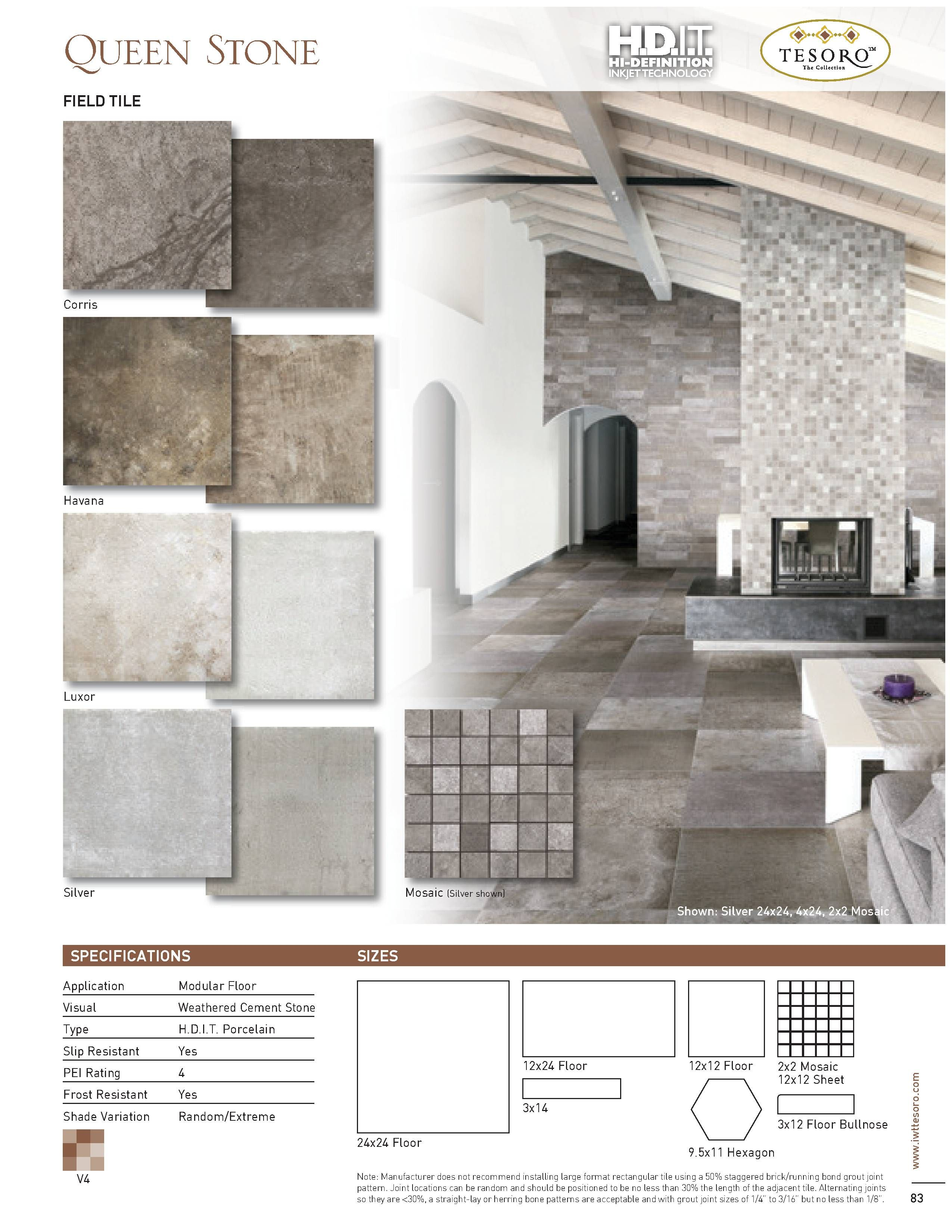 tesoro queen stone brochure floors tile flats mosaics tiles flooring  [ 2550 x 3300 Pixel ]