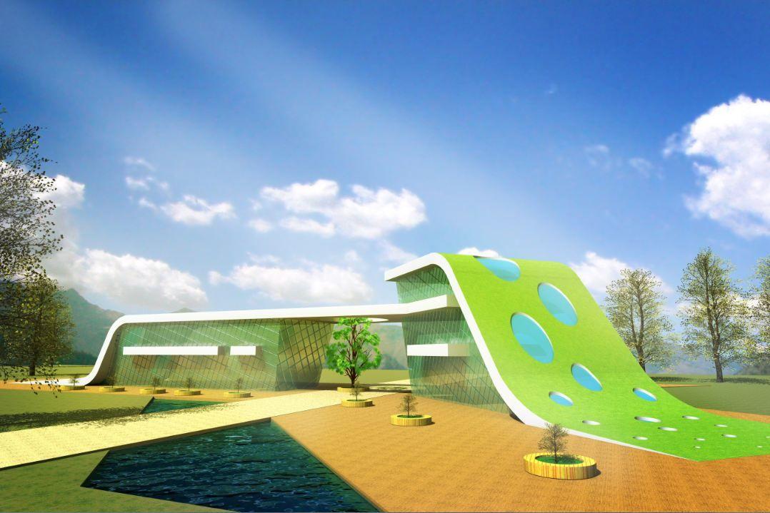 Modern Architecture Library green public library concept | jasmine steiner | architecture