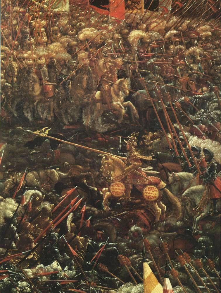 ALTDORFER, Albrecht German Northern Renaissance (ca.1480-1538)_The Battle Of Alexander (detail2) 1529