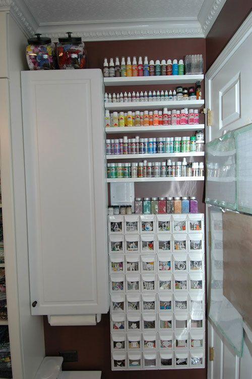 The Best Crafts Room Organization Ever   Shelterness