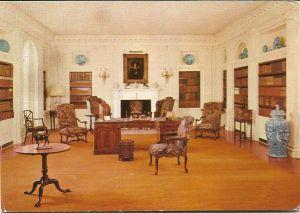 Bibliotheeksalon in Polesden Lacey (een Edwardian House), Dorking (Surrey)