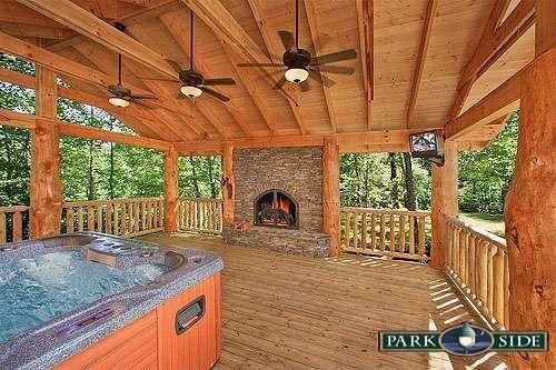 Smoky Mountain Cabin Rentals Jacuzzi Outdoor Gatlinburg Cabin Rentals Indoor Outdoor Fireplaces