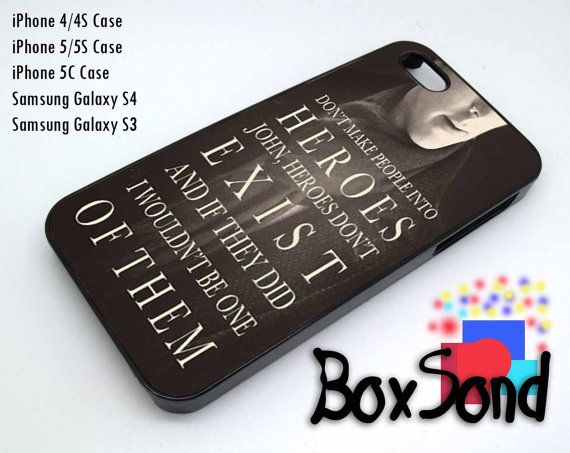 Sherlock Quote For iPhone 4/4S iPhone 5/5S/5C Samsung Galaxy S3 Samsung Galaxy S4 Hard Plastic Rubber case on Etsy, $15.00