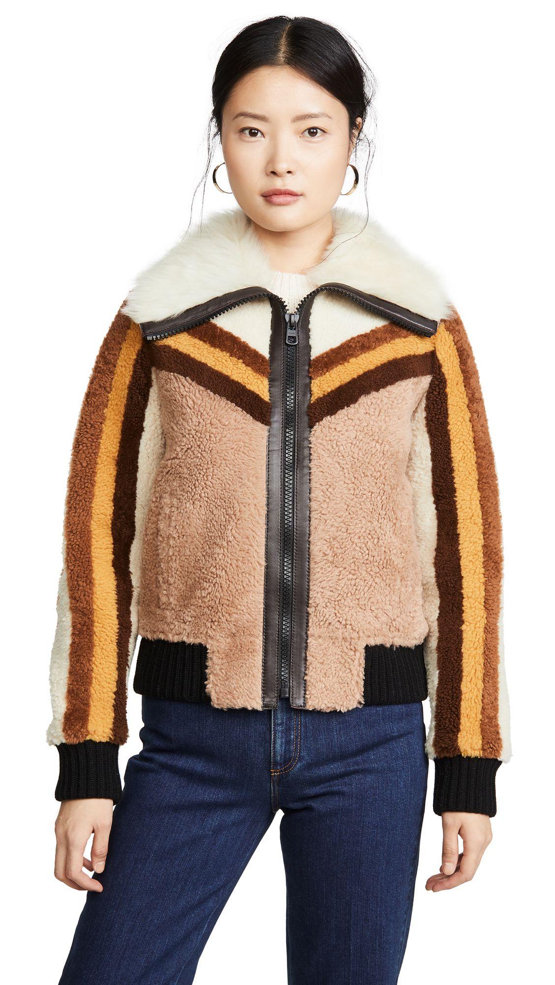 Coach 1941 Shearling Bomber Jacket Coach Cloth Bomber Jacket Shearling Jackets [ 2000 x 1128 Pixel ]