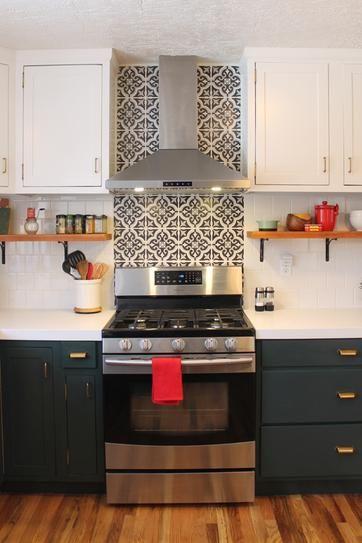 Merola Tile Braga Black Encaustic 7-3/4 in. x 7-3/4 in. Ceramic Floor and Wall Tile (11.11 sq. ft. / case)-FTC8BRBK #kitchenbacksplash