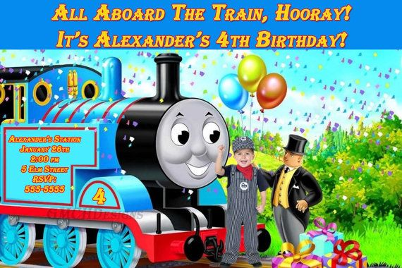 Thomas The Train Custom Personalized Photo Birthday By GMCHDesigns 800