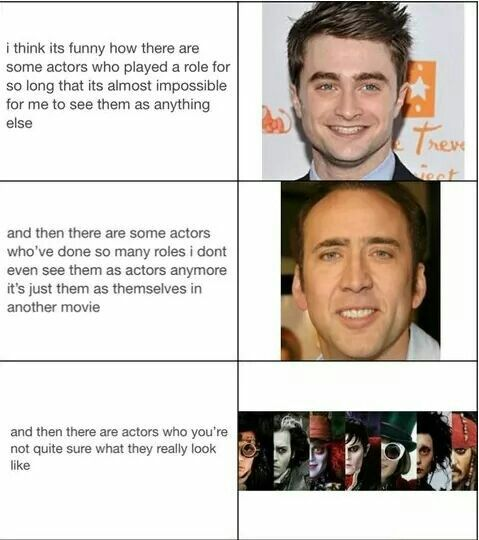 What I gathered from this; Nicholas Cage isn't even a real actor.