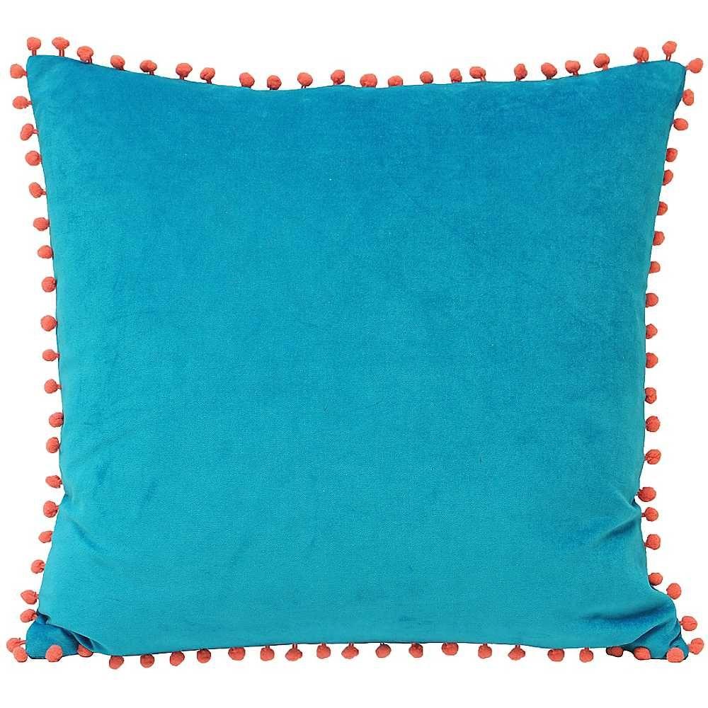 Velevet Pompom Fringed Cushion Freemans