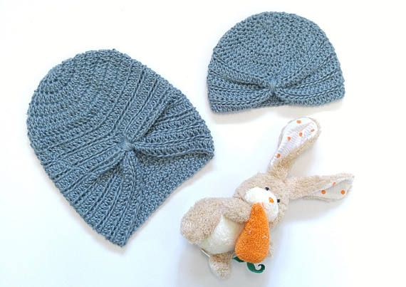 8dc13b20c Mommy and Me turban hat new baby gift matching mom and baby newborn ...
