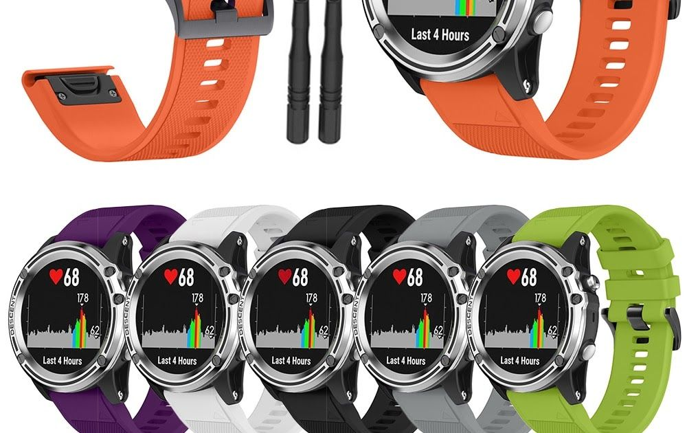 Smart Watch Strap For Garmin Fenix 3 3hr 5x 5x Plus Silicone