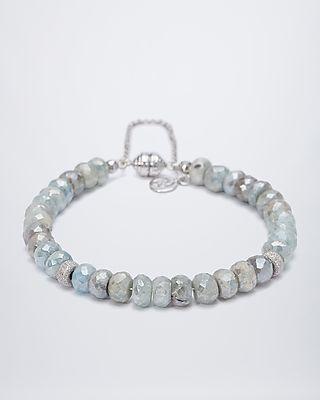Armband mit Beryll-Rondellen, 395903  #sognidoro #sogni #doro #schmuck #edelsteine