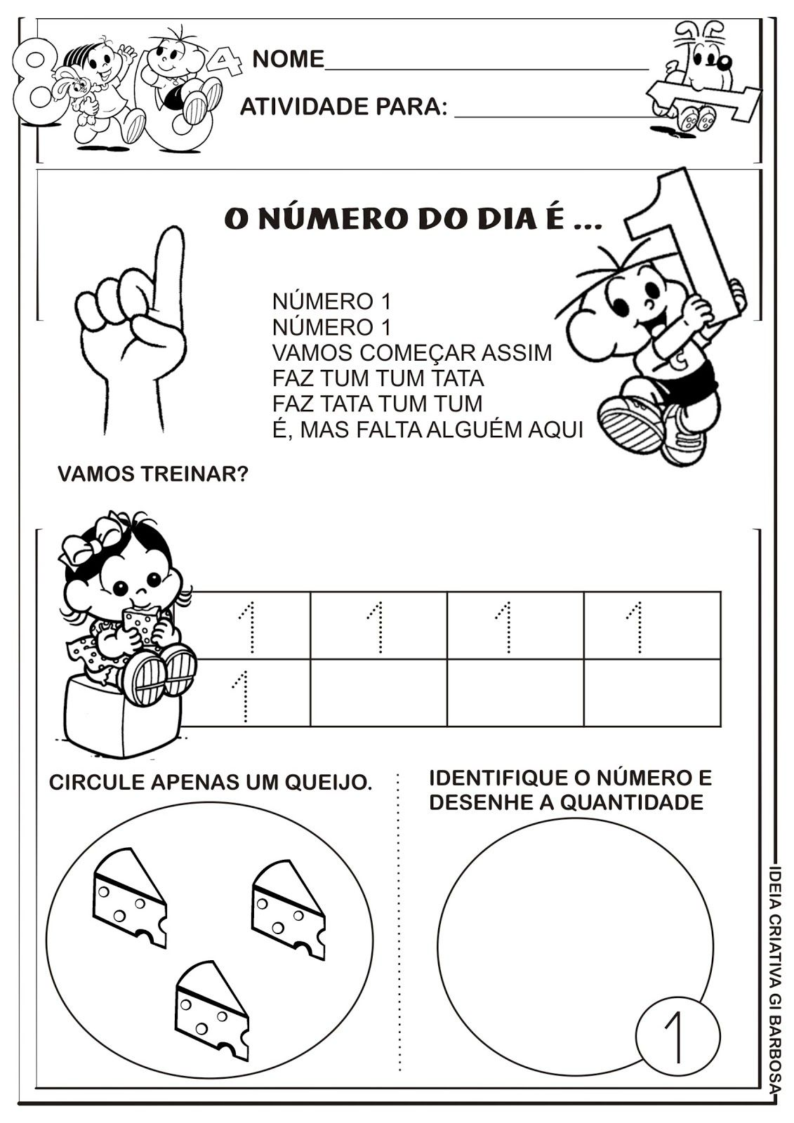Conhecido Matemática Infantil: Atividades Numerais Educação Infantil  ZB97