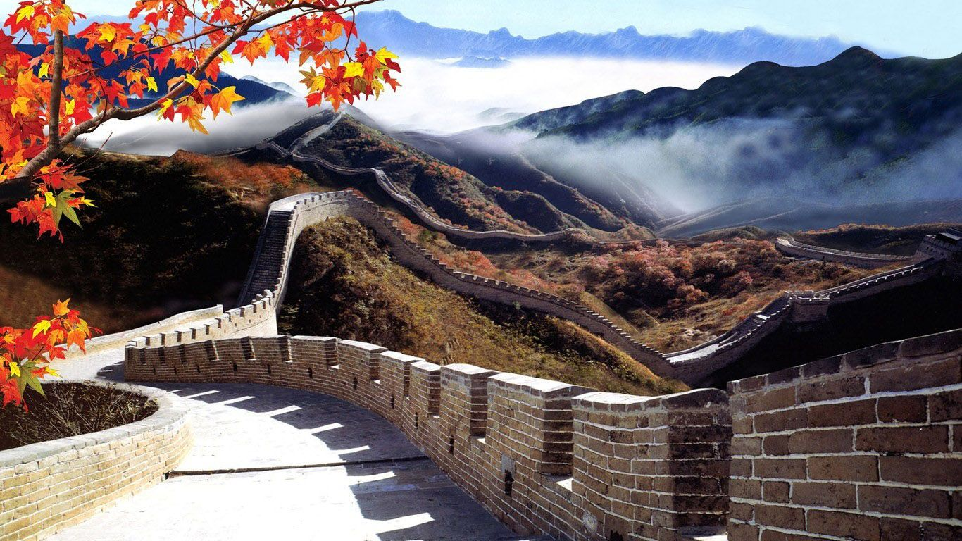 China Wallpapers Great Wall Of China Landscape Canvas Monument