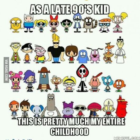 I'm an early 2000s kid. I still remember a lot of these. I didn't watch them all but I still remember them