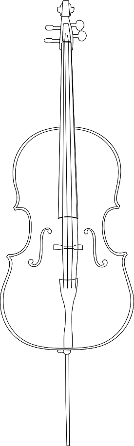 cello coloring page | Coloring Pages | Pinterest | Cello, Coloring ...