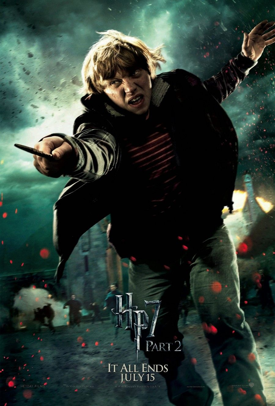 Ron Weasley Rupert Grint in Harry Potter and the Deathly Hallows Part 2 HarryPotter 3D