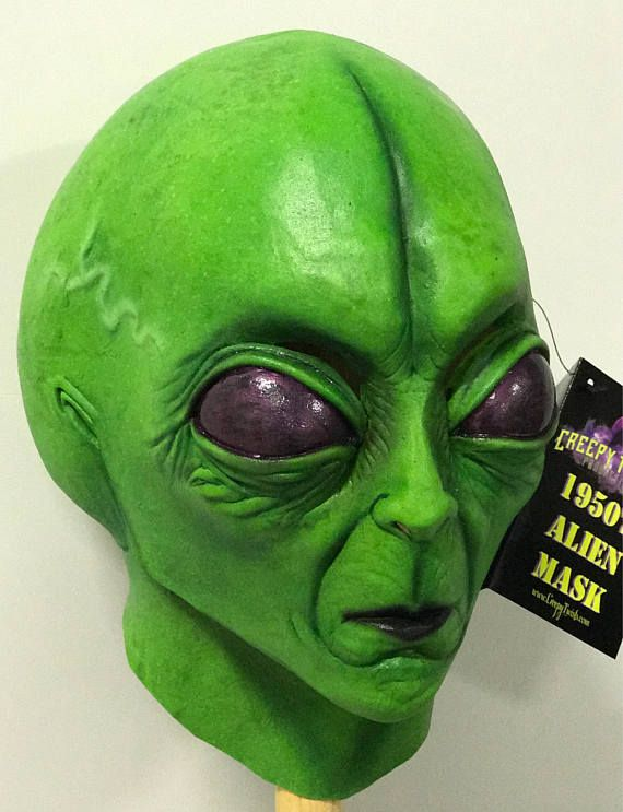 7fd6dd88046b 1950 s Extraterrestrial Alien Halloween latex Mask