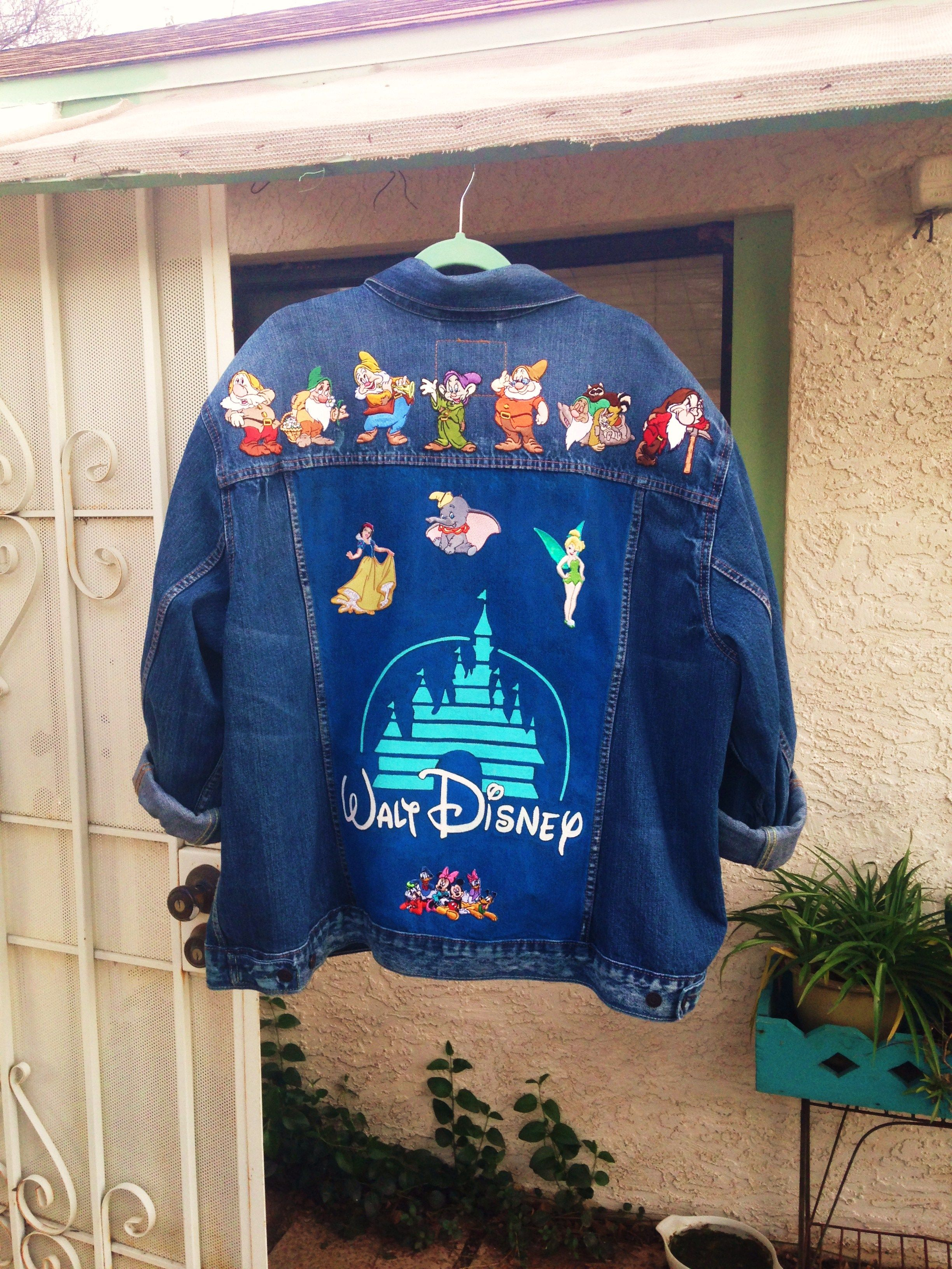 d944b5fe5 Disney logo custom painted on Levi's denim jacket with patches by @bleudoor  on Instagram #disney