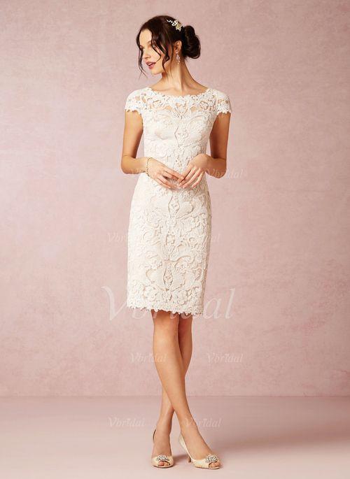 knälång klänning bröllop