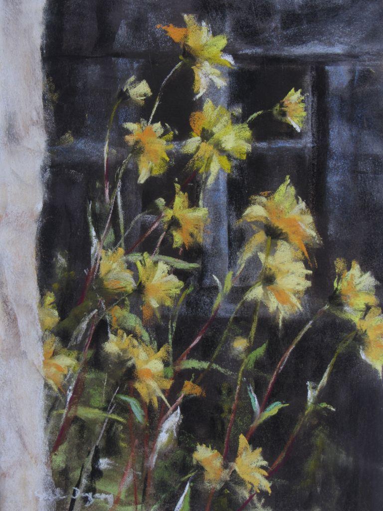Les Fleurs Peinture Au Pastel Sec Par Isabelle Douzamy 40x50cm