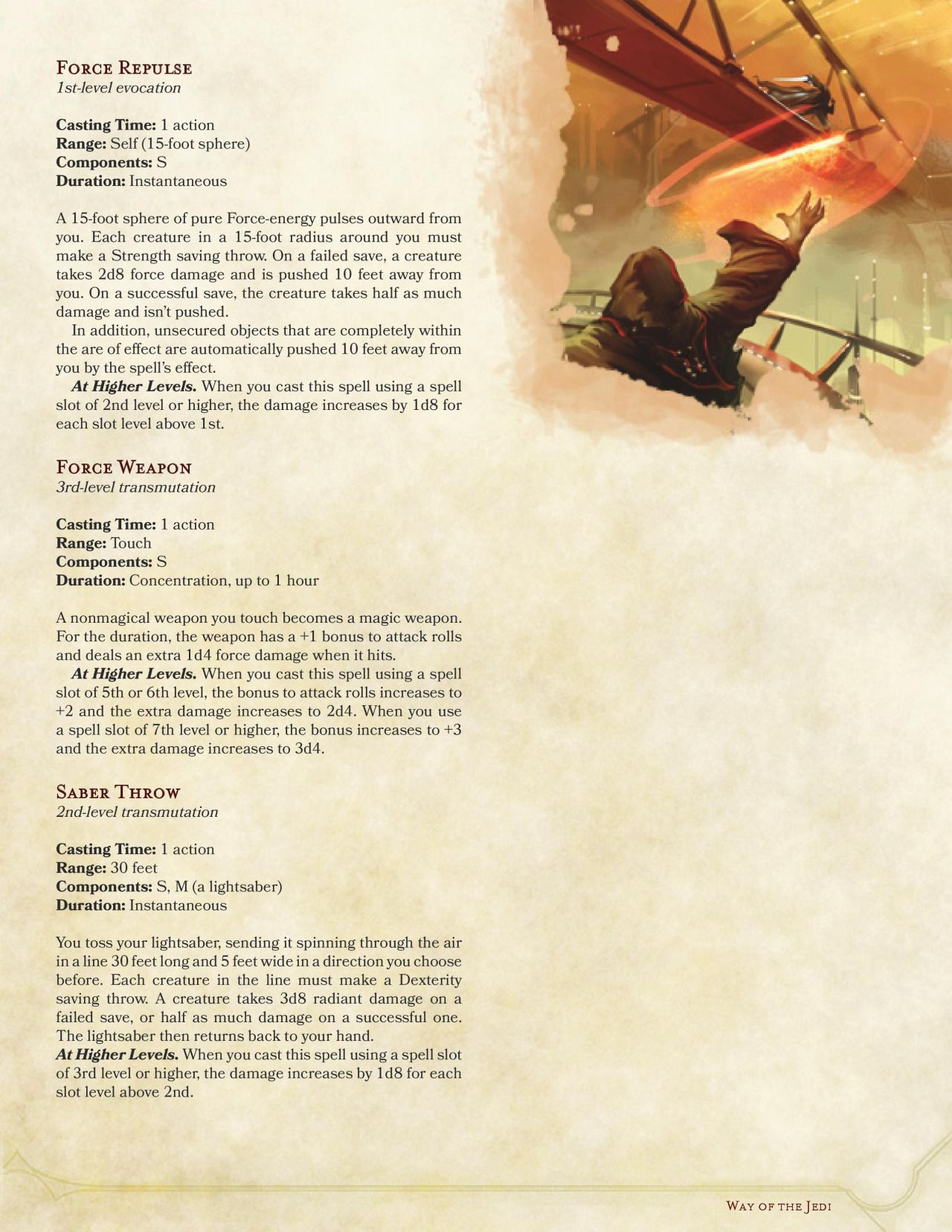 Way Of The Jedi Monk By Spiketaildrake With Images Dnd 5e