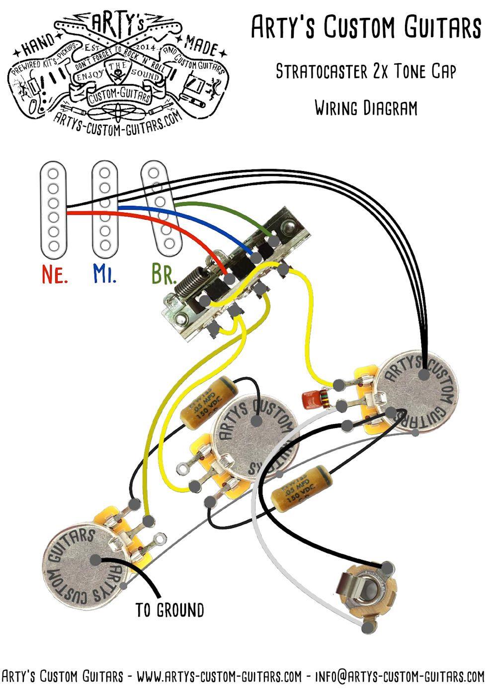 St 2x Cap Tone Split Vintage Prewired Kit Stratocaster In 2020