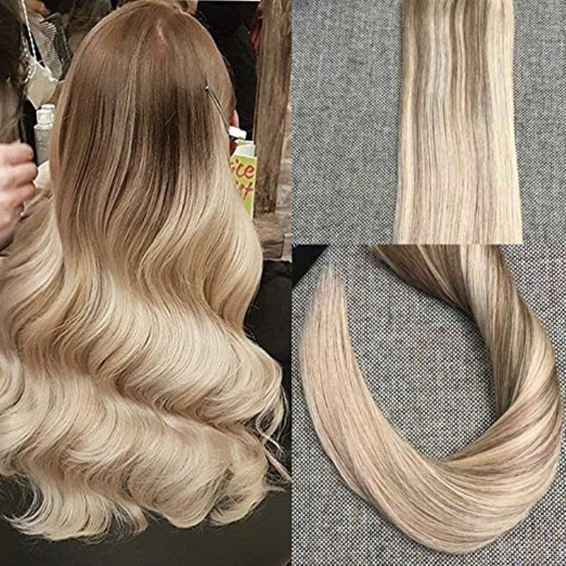 3495 Know More Full Shine Tape In Hair Extensions Ombre Color