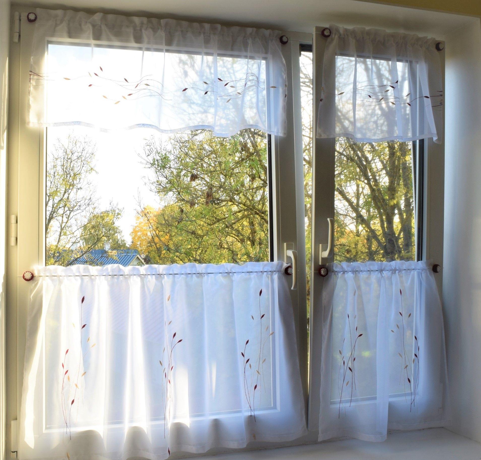 gardinenstange ohne bohren scheibengardinen k chengardinen bistrogardinen pinterest. Black Bedroom Furniture Sets. Home Design Ideas