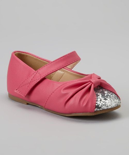 Take a look at this Fuchsia & Silver Glitter Cupcake Mary Jane on zulily today!